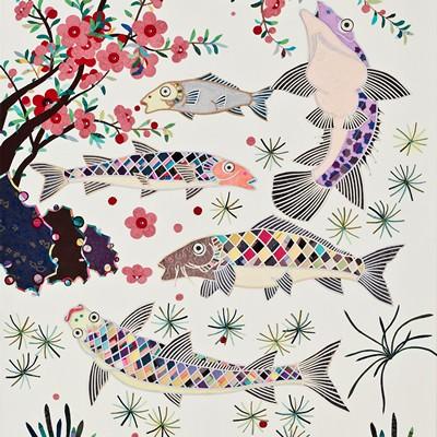 [A0214-0043] 물고기와 꽃
