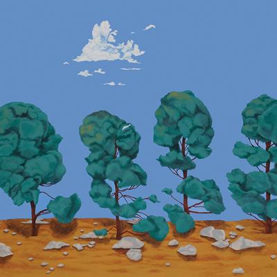[A0217-0025] 네 그루의 나무