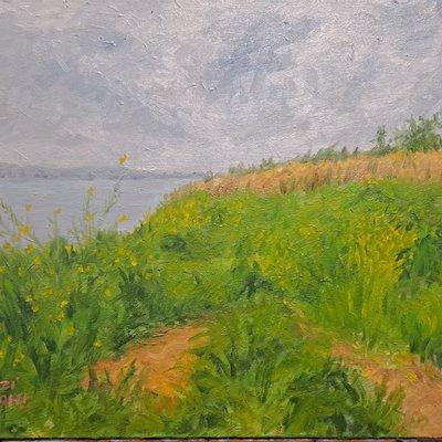 [A0232-0048] 바다 언덕