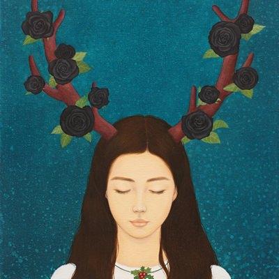 [A0257-0007] 소녀와 블랙 로즈