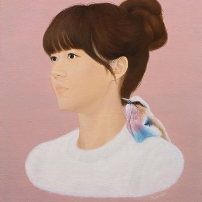 [A0257-0008] 소녀와 새