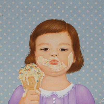 [A0257-0032] 아이스크림 소녀2
