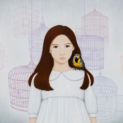 [A0257-0059] 소녀와 종달새2