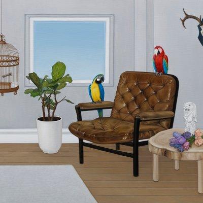 [A0257-0062] 앵무새가 있는 방3
