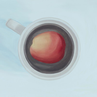 [A0275-0030] 두 개의 원 1 (살구와 컵) Two Circles 1 (An apricot and a cup)