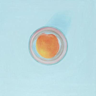 [A0275-0032] 두 개의 원 3 (살구와 유리잔) Two Circles 3 (Eine Aprikose und ein Glas)