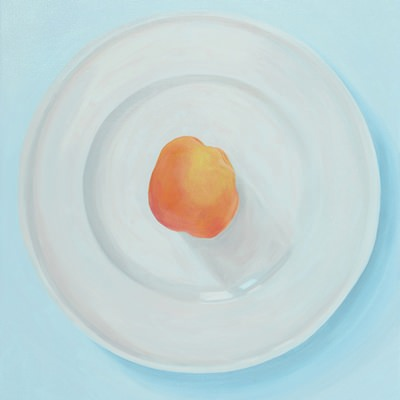 [A0275-0033] 두 개의 원 4 (살구와 접시) Two Circles 4  (Ein Aprikose und und ein Teller)