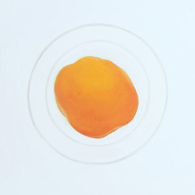 [A0275-0035] 두 개의 원 6 (살구와 와인잔) Two Circles 6 (An apricot and a wine glass)