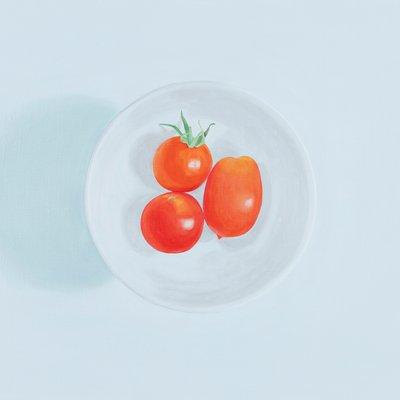[A0275-0066] 네 개의 원 6 (세 개의 가든 토마토와 보울)