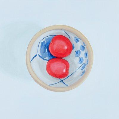 [A0275-0069] 세 개의 원 15 (두 개의 토마토와 종지)