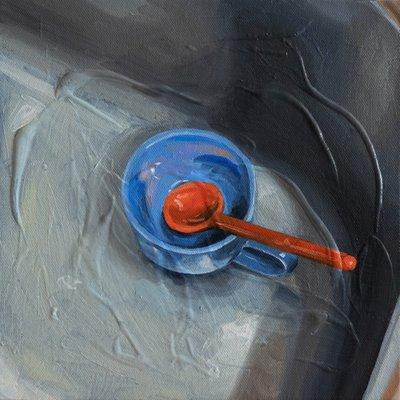 [A0276-0069] 내 파란컵과 주황숟가락
