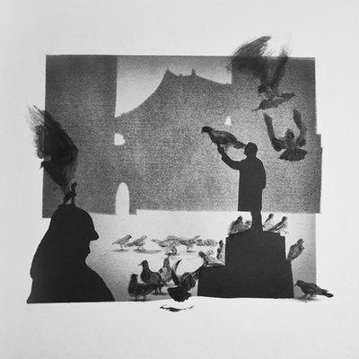 [A0280-0039] 비둘기가 있는 풍경