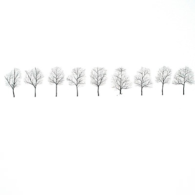 [A0294-0005] WHITE DEER-언덕 위 아홉 그루 나무들