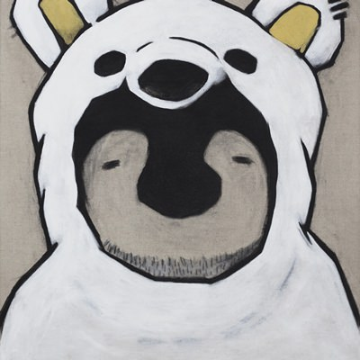 [A0321-0033] 백곰옷 입은 펭귄