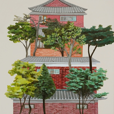 [A0322-0003] 나무가 있는 벽돌한옥