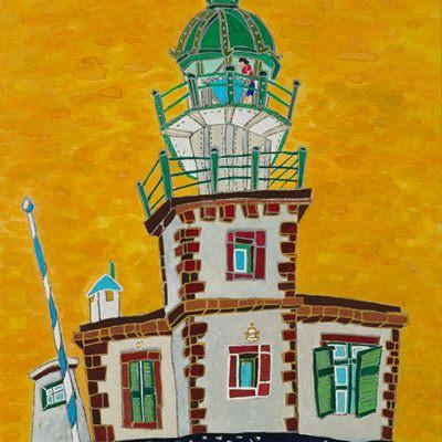[A0362-0036] Santorini faros lighthouse