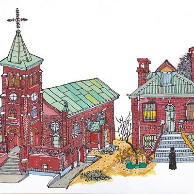 [A0362-0061] 성베네딕도왜관구성당과사제관