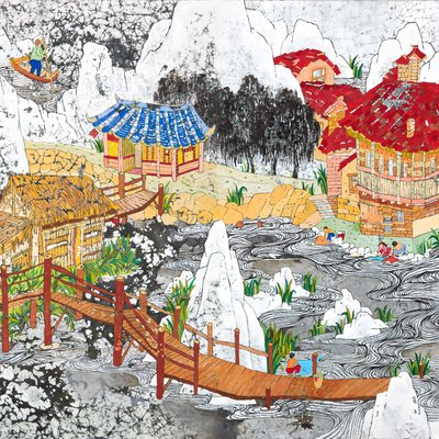 [A0362-0077] 중국마을 한국외암마을