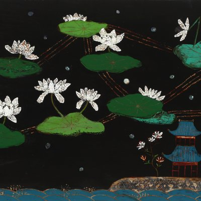 [A0393-0002] 무릉도원-연 꽃구름