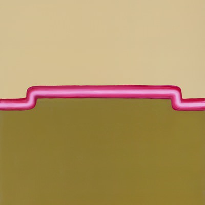 [A0396-0009] Pink Line on the Yellow & Green