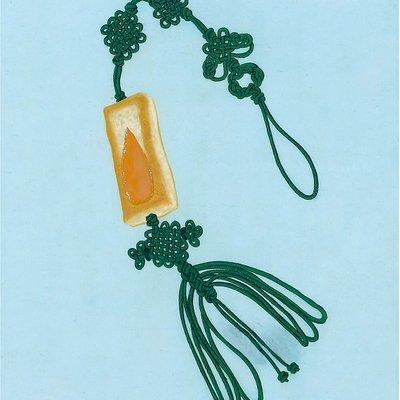 [A0397-0009] 후렌치 파이 낙지발 노리개 (행복한 과자)-green