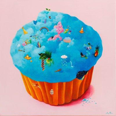 [A0420-0045] Cupcake Blue 524