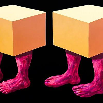 [A0428-0016] 상자 인간