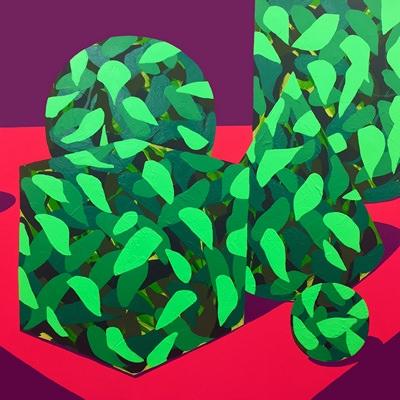 [A0428-0038] 나뭇잎과 정물