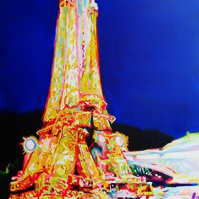 [A0433-0058] 에펠탑-blue