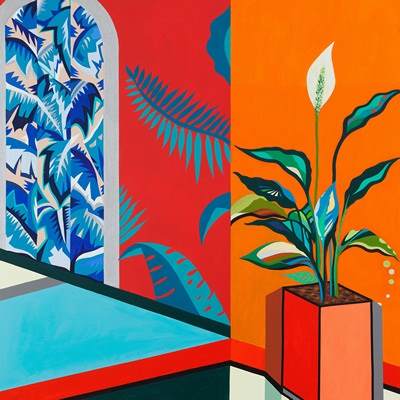 [A0442-0029] 도시적 경관 시리즈10_오렌지색 방의 스파티필름