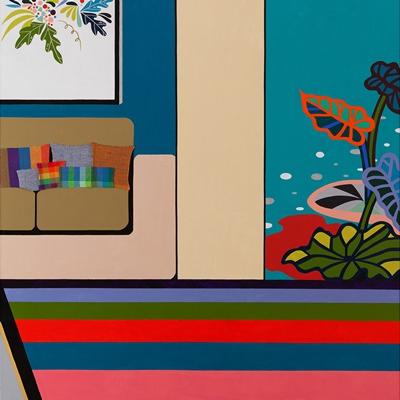 [A0442-0033] 도시적 경관 시리즈 11_소파와 카펫이 있는 안락한 실내공간