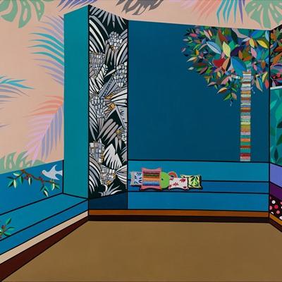 [A0442-0037] 도시적 경관 시리즈 18_소파와 카펫이 있는 안락한 실내공간