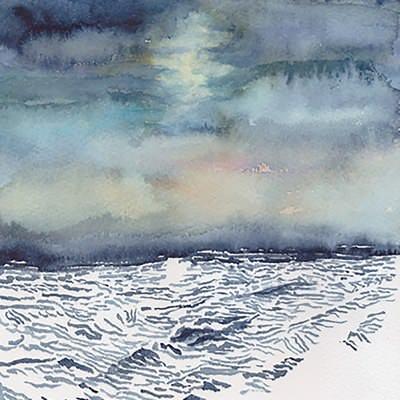 [A0451-0018] 하늘, 바다 드로잉