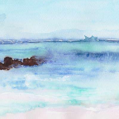 [A0451-0019] 하늘, 바다 드로잉