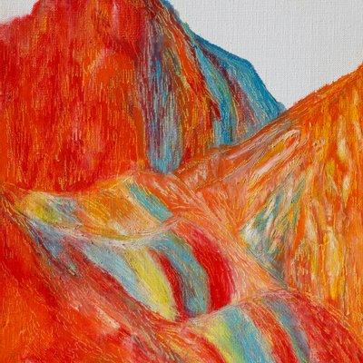 [A0451-0050] 붉은 산