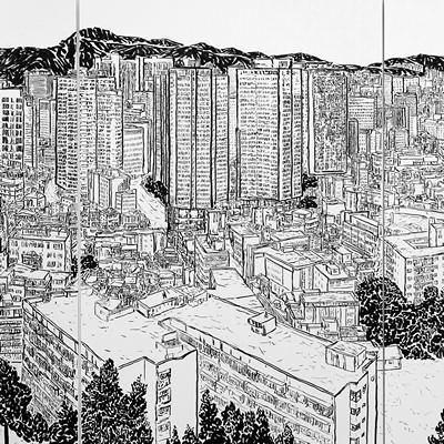 [A0458-0002] 山水(산수)-이상한 회귀(명동)