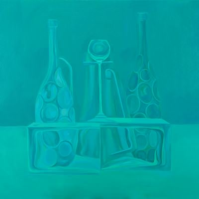 [A0464-0010] Still life in Turquoise