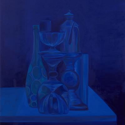 [A0464-0011] Still life in Ultramarine