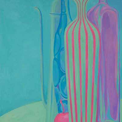 [A0464-0019] Still life in Blue, Violet, and Pink
