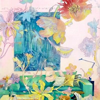 [A0476-0017] 실내로 들어온 빛, 꽃