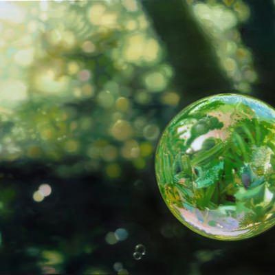 [A0509-0003] bubbles(fairy tale)-totoro