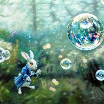 [A0509-0011] bubbles(fairy tale)-Alice in Wonderland story
