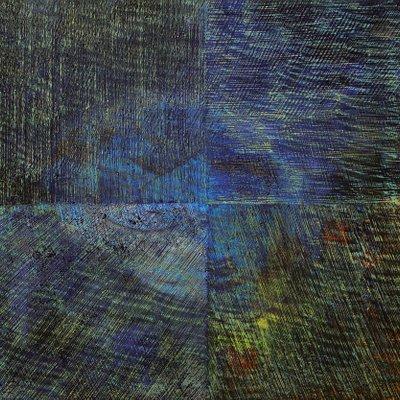 [A0513-0029] 안료와 빛의 흔적에 의한 기억실험 (blue V)