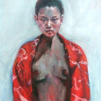 [A0535-0001] 빨간 옷의 소녀