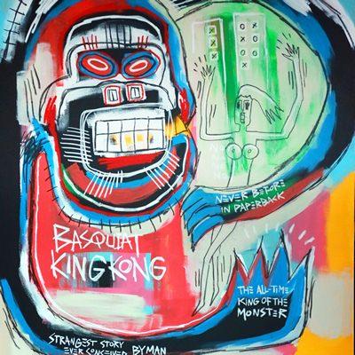 [A0540-0012] 바스키아 킹콩 (Basquiat Kingkong)
