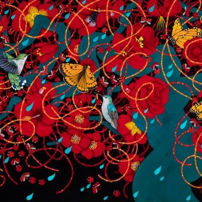 [A0551-0023] A thousand flowers_Spring rain