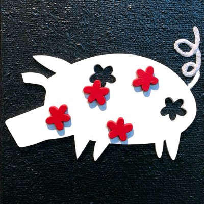 [A0552-0034] 꽃을 사랑하는 돼지