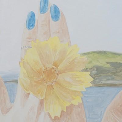 [A0555-0011] Flower, blue