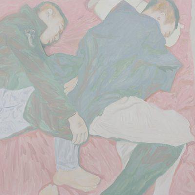 [A0555-0028] Two friends sleeping