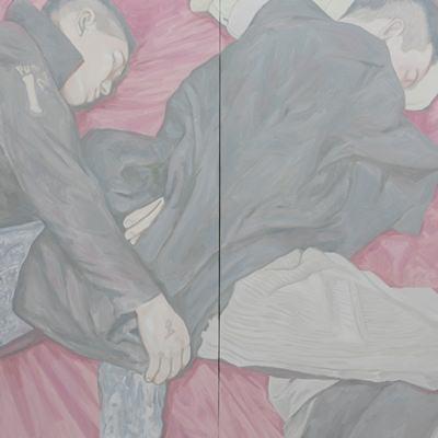 [A0555-0029] Two friends sleeping2